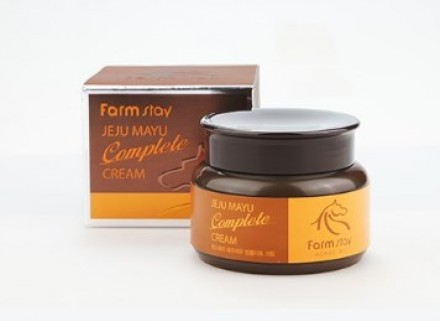 Крем с лошадиным маслом для сухой кожи FARMSTAY Jeju mayu complete cream 100г: фото