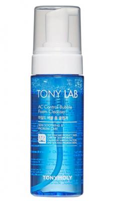 Пузырьковая пенка для умывания для проблемной кожи лица TONY MOLY TonyLab AC Control bubble foam cleanser 150 мл: фото