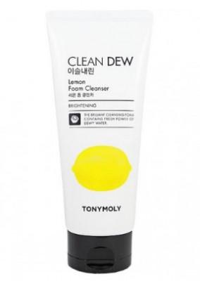 Очищающая пенка для умывания с экстрактом лимона TONY MOLY Clean dew lemon foam cleanser 180 мл: фото
