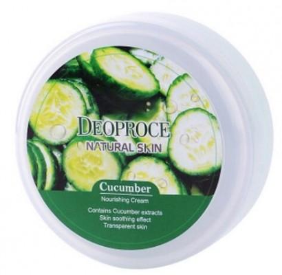 Крем для лица и тела с огурцом DEOPROCE Natural skin cucumber nourishing cream 100г: фото