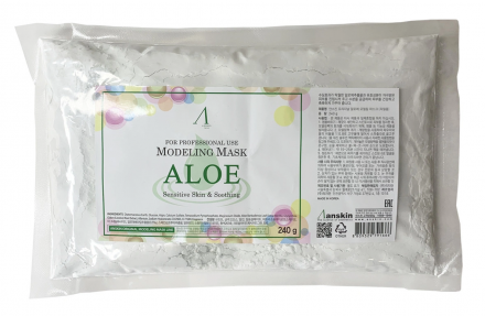 Маска альгинатная с алоэ успокаивающая Anskin Aloe Modeling Mask 240г: фото