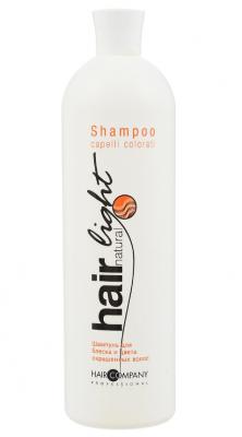 Шампунь для блеска и цвета окрашенных волос Hair Company Hair Natural Light Shampoo Capelli Colorati 1000мл: фото