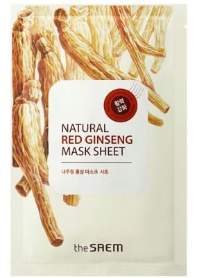 Маска тканевая с экстрактом женьшеня THE SAEM Natural REd Ginseng Mask Sheet 21мл: фото
