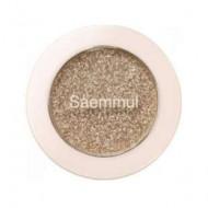 Тени для век с глиттером THE SAEM Saemmul Single Shadow Glitter BE03 1,6г: фото