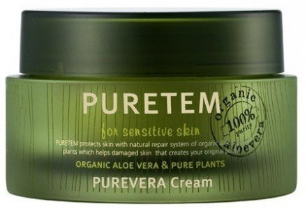 Крем для лица с экстрактом алоэ вера Welcos Puretem Purevera Cream 50мл: фото