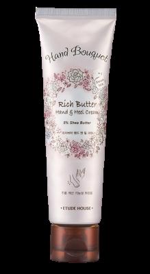 Крем для рук и ног с маслом ши ETUDE HOUSE Bouquet Rich Butter Hand & Heel Cream 100мл: фото