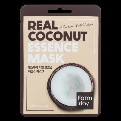 Тканевая маска для лица с экстрактом кокоса FARMSTAY REAL COCONUT ESSENCE MASK 23 мл: фото