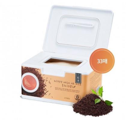 Маски для лица с экстрактом черного чая A'PIEU Daily Sheet Mask Black Tea/Hydrating 33шт: фото