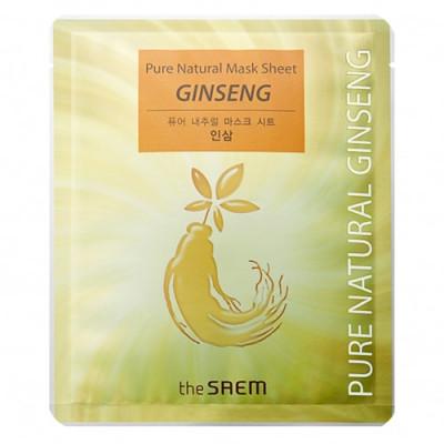 Маска тканевая с красным женьшенем THE SAEM Pure Natural Mask Sheet Ginseng 20мл: фото