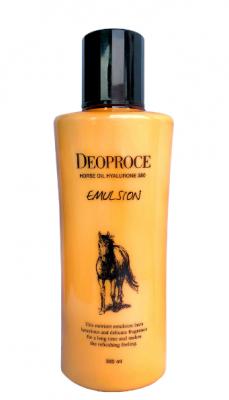 Эмульсия с гиалуроновой кислотой и лошадиным жиром Deoproce Horse Oil Hyalurone Emulsion 380мл: фото
