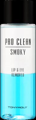 Средство для снятия макияжа с губ и глаз Tony Moly Pro Clean Smoky Lip&Eye Remover 100мл: фото