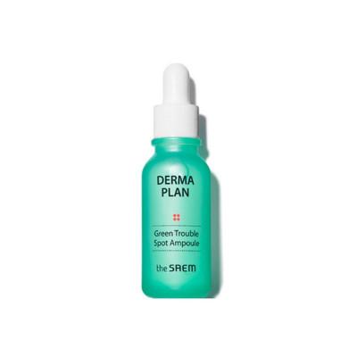 Сыворотка для лица THE SAEM Derma Plan Green Trouble Spot Ampoule: фото