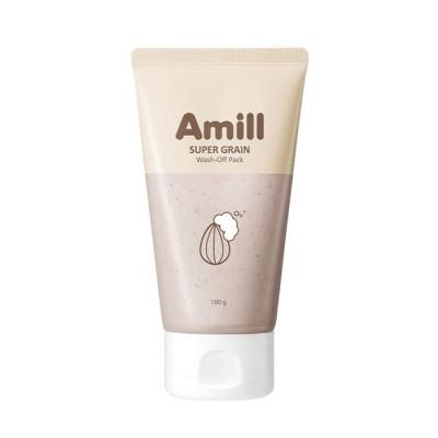 Глиняная маска с зерновыми экстрактами AMILL Super Grain Wash-Off Pack 100мл: фото