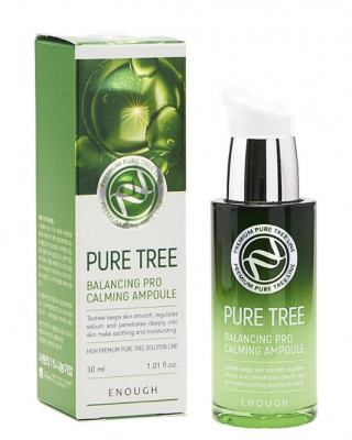 Сыворотка ампульная успокаивающая с чайным деревом ENOUGH Pure Tree Balancing Pro Calming Ampoule 30мл: фото
