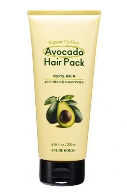 Маска для волос с маслом авокадо ETUDE HOUSE REPAIR MY HAIR AVOCADO HAIR PACK 200мл: фото