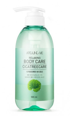 Гель для душа с центеллой и чайным деревом WELCOS AROUND ME Relaxing Body Care Cicatreecare Body Wash 500мл: фото