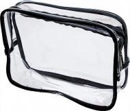 Косметичка прозрачная на молнии Sibel 19*27см, черная: фото