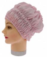 Шапочка для душа/химии пластиковая с эластичной лентой Sibel розовая: фото