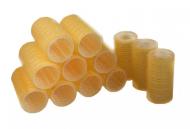 Бигуди на липучке Sibel 32мм желтые 12шт: фото