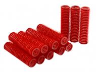 Бигуди на липучке Sibel 13мм красные 12шт: фото