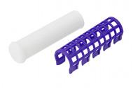 Термобигуди с зажимами Harizma Professional 17мм фиолетовый 7шт: фото