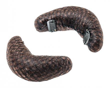 Подкладка для причёсок с клипсами Harizma Professional 165х55мм шатен: фото