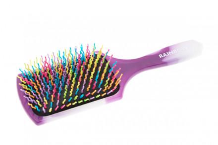 Щётка для волос широкая Harizma Professional Rainbow вечерняя фиалка: фото