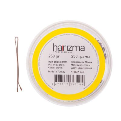 Невидимки прямые Harizma Professional 60мм 250г коричневые: фото