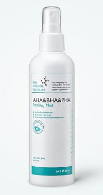Пилинг-мист для лица с кислотами MIZON AHA&BHA&PHA Peeling Mist 200мл: фото