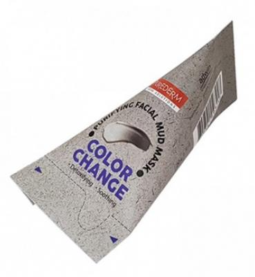 Маска для лица очищающая грязевая Purederm Color change facial mud mask 20г*12шт: фото