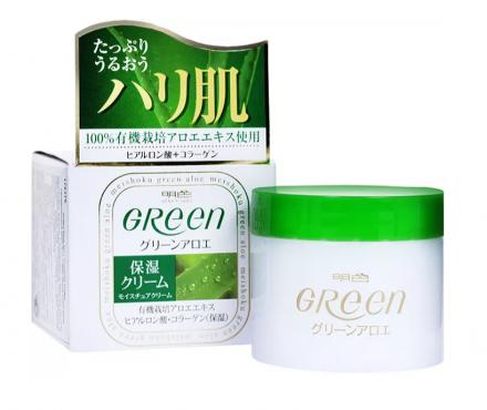 Крем увлажняющий для сухой кожи лица Meishoku Green plus aloe moisture cream 48г: фото