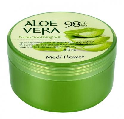 Гель смягчающий с алоэ MediFlower Aloe vera soothing gel 300мл: фото