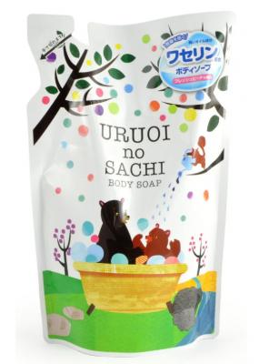 Мыло жидкое с ароматом персика MAX Uruoi no sachi body soap 400мл: фото