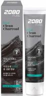 Зубная паста с углем Отбеливание KeraSys Dental clinic 2080 black clean charcoal 120г: фото