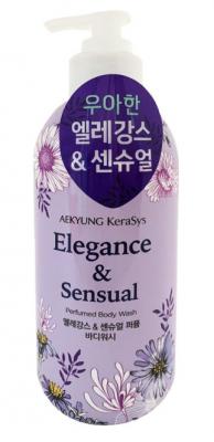 Гель для душа парфюмерная линия Элеганс KeraSys Elegance & sensual perfumed 500мл: фото