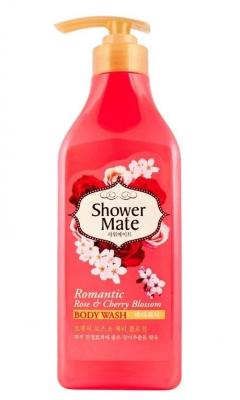 Гель для душа Роза и вишневый цвет KeraSys Shower mate romantic rose & cherry 550мл: фото