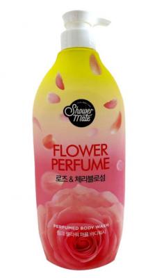 Гель для душа Роза KeraSys Shower mate pink flower 900мл: фото