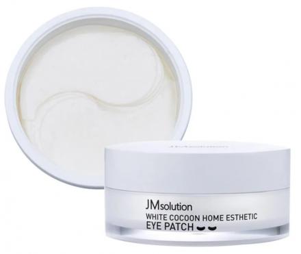 Патчи для глаз с протеинами шелкопряда JMsolution White cocoon home esthetic eye patch 60шт: фото