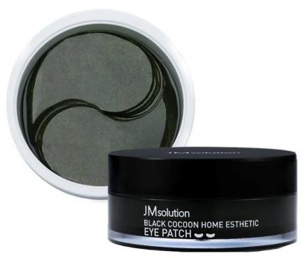 Патчи с экстрактом черного шелкопряда JMsolution Black cocoon home esthetic eye patch 60шт: фото