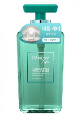 Шампунь против перхоти с жемчугом JMsolution Solution marine luminous fresh V shampoo 500мл: фото