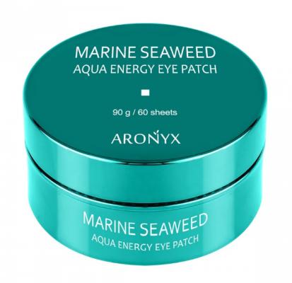 Патчи гидрогелевые с морскими водорослями MediFlower Aronyx Marine aqua energy eye patch 60шт: фото